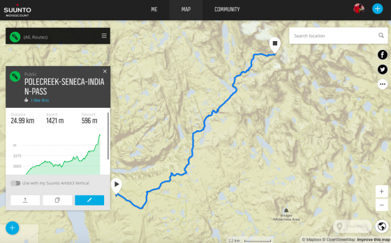 Pole Creek Trail -> Seneca Lake Trail -> Indian Basin Trail -> Indian Pass
